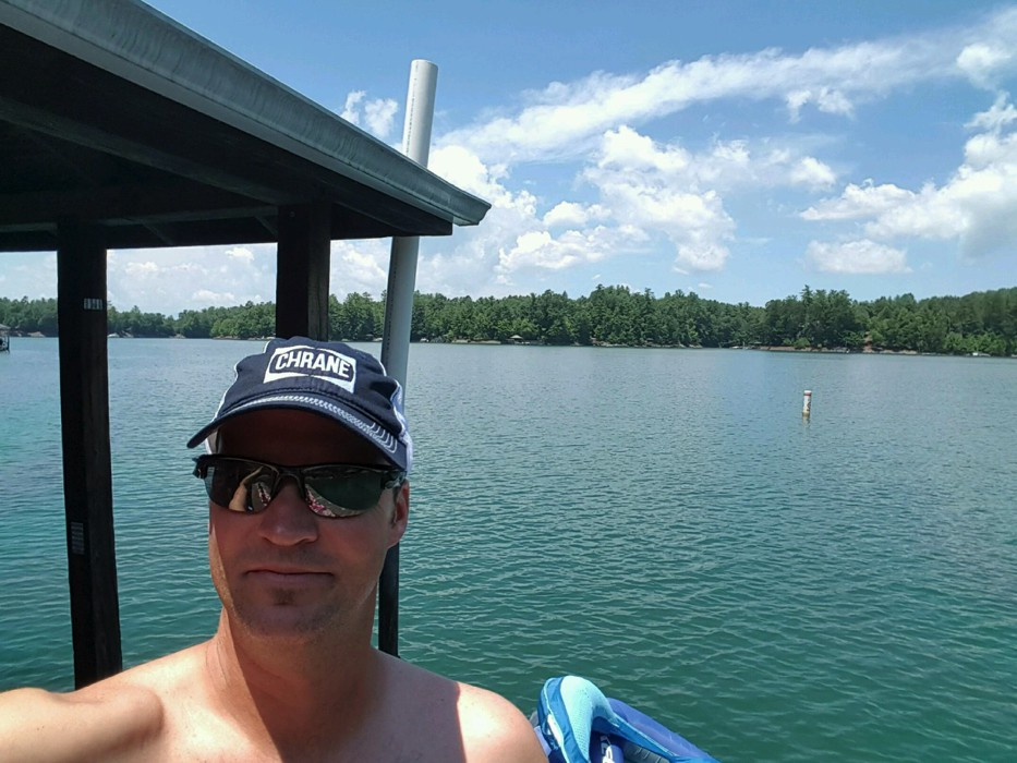 Aaron Wylie at Lake James NC