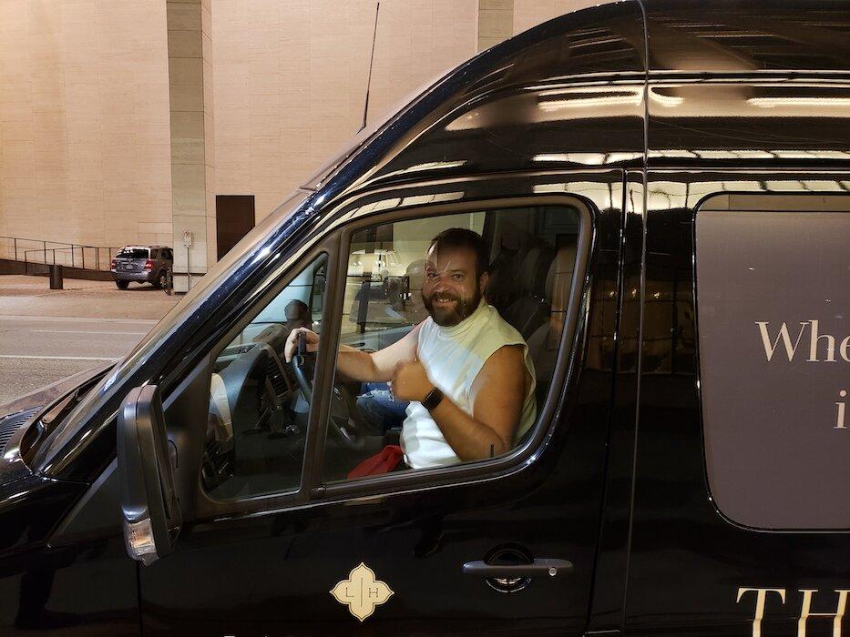 Man in a truck for Chrane